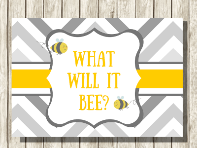 What Will It Bee Baby Shower Backdrop