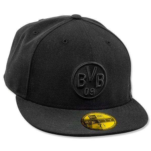 schwarz Borussia Dortmund BVB-Kappe 59FIFTY
