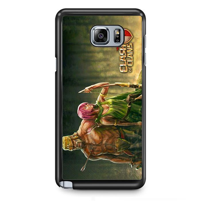 Clash Of Clans Barbarian And Archer TATUM-2674 Samsung Phonecase Cover Samsung Galaxy Note 2 Note 3 Note 4 Note 5 Note Edge