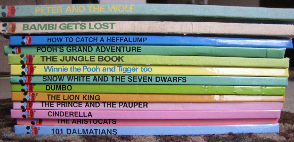 Disney's Wonderful World of Reading Lot 13 HC Books Cinderella Dumbo Lion King