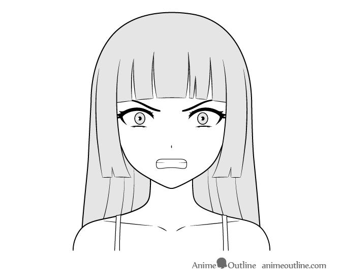 Anime Villain Girl Angry Face Drawing Anime Character Drawing Anime Face Drawing Girl Face Drawing