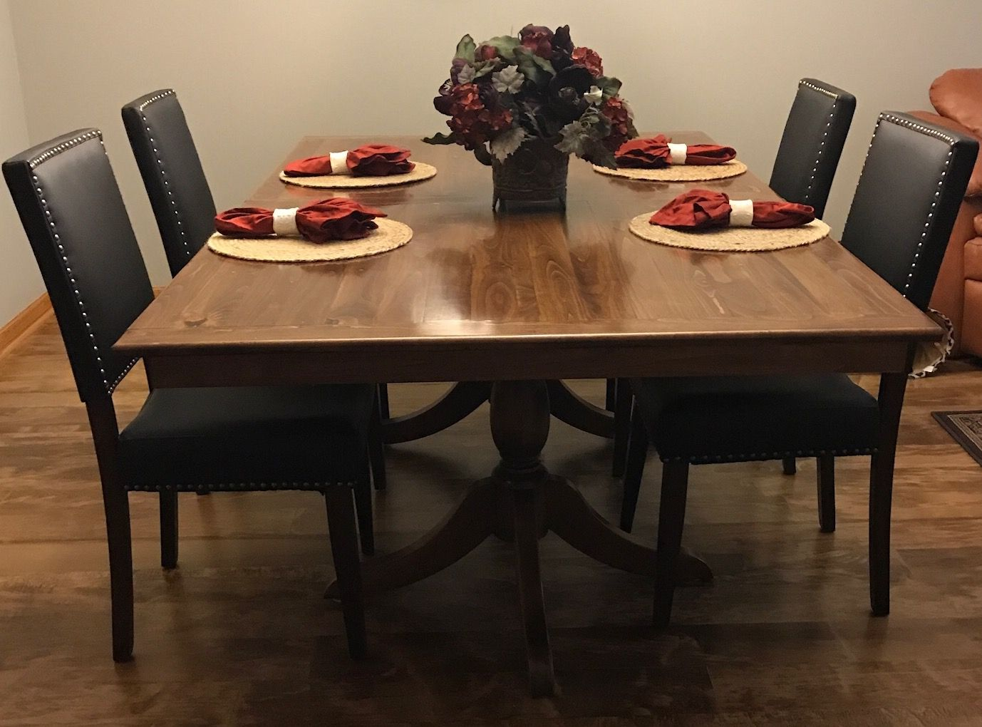 Custom Alder Double Pedestal Dining Table With French Polish Glamorous Custom Dining Room Tables Review
