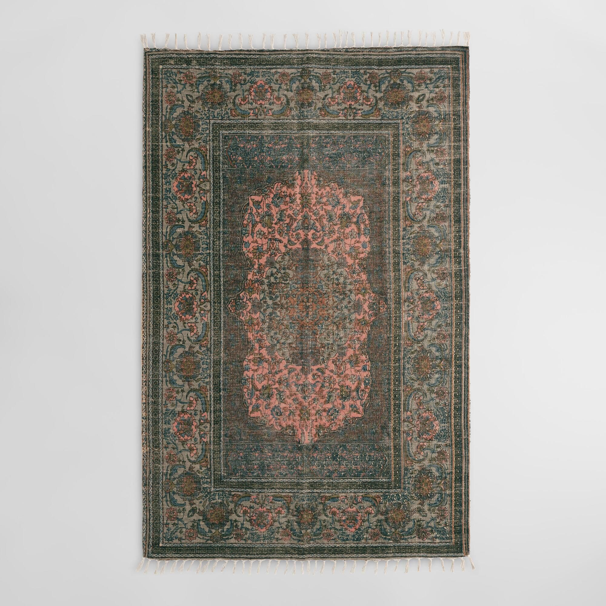 inexpensive kitchen rugs wall mounted faucets blush persian medallion print woven jute puri area rug by world market