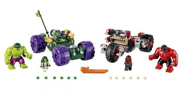 Red Hulk Vs Green Hulk LEGO Set Revealed #Marvel