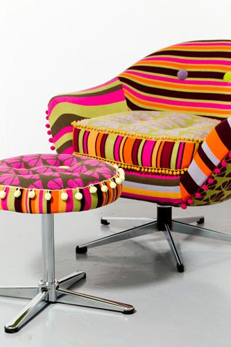 Deryn Relph Chair. Okay, I would never put this chair in my home. That said, it reminds me of my Grandma.