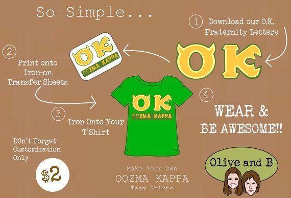 Diy Monsters University Inspired Ok Oozma Kappa T Shirt Design By Oliveandb Instant Download Monster University Kappa Monster University Party