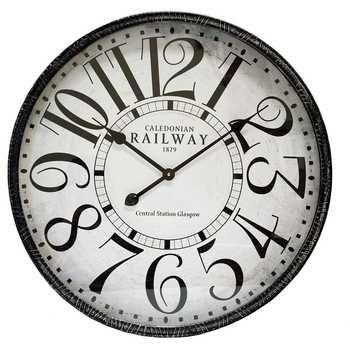 Distressed Black Metal Wall Clock Hobby Lobby 803981 Bulova