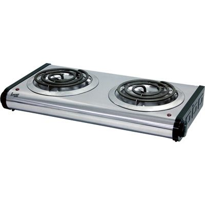 Comfort Zone Twin Electric Hot Plate 1000 Watt Model 123855 Cooking Stoves Burners Electric Stove Clean Stove Clean Stove Burners