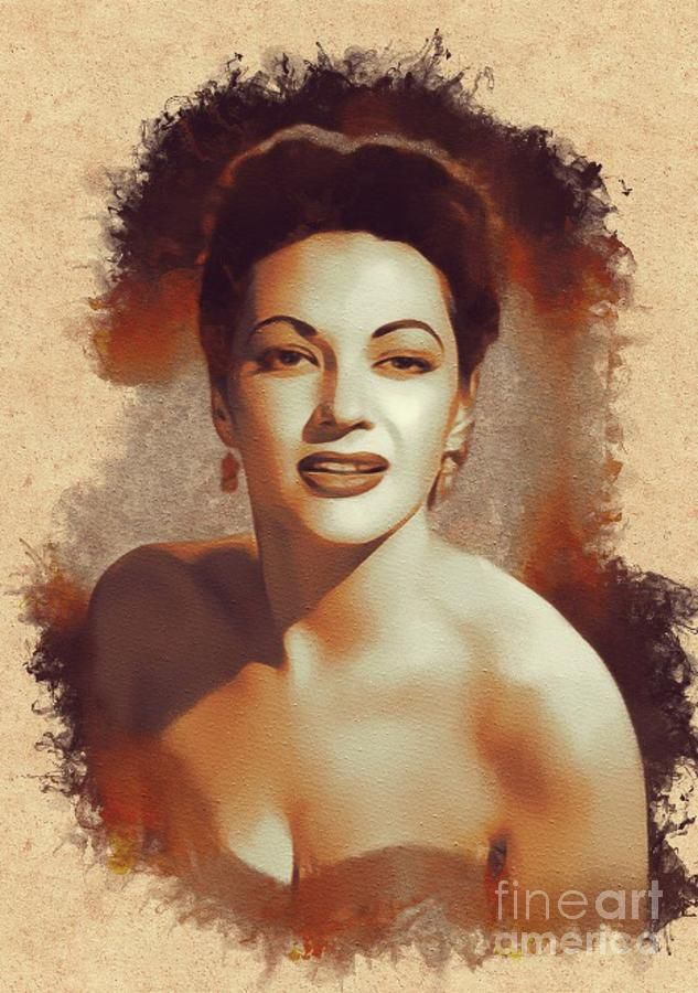 Painting - Yvonne De Carlo, Hollywood Legend by Esoterica Art Agency #affiliate , #sponsored, #AD, #De, #Yvonne, #Hollywood, #Carlo