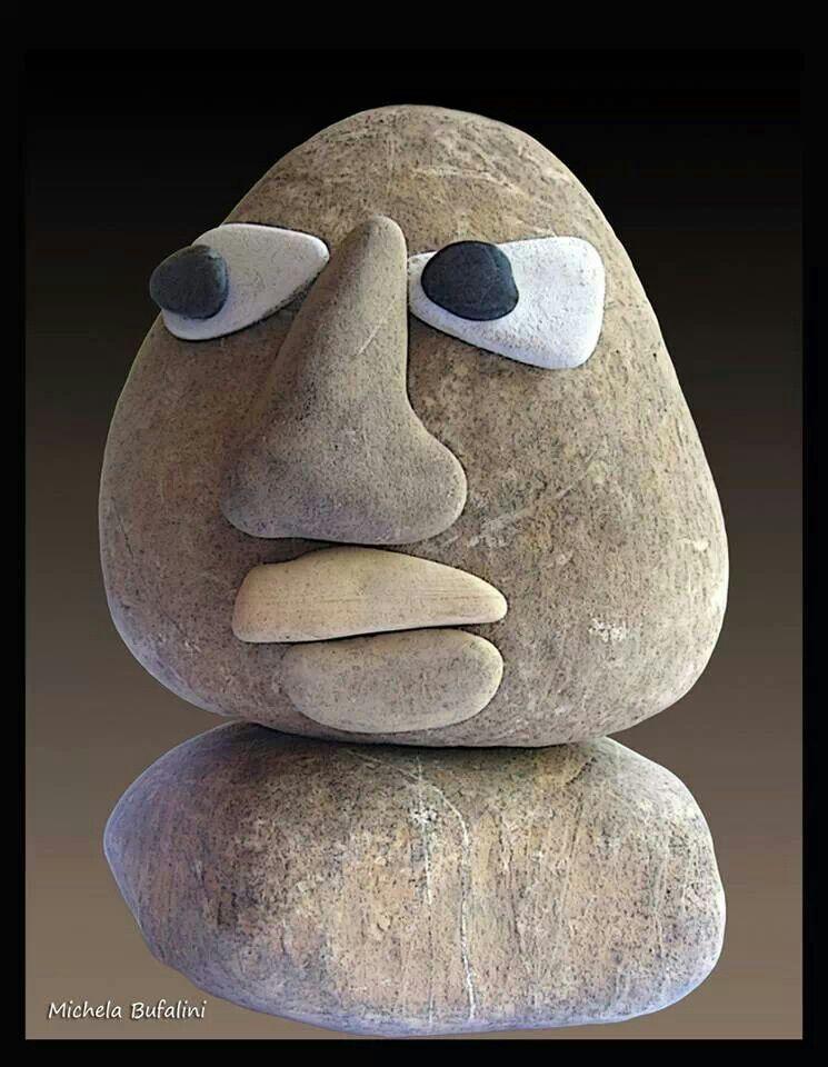Смешная картинка из камней