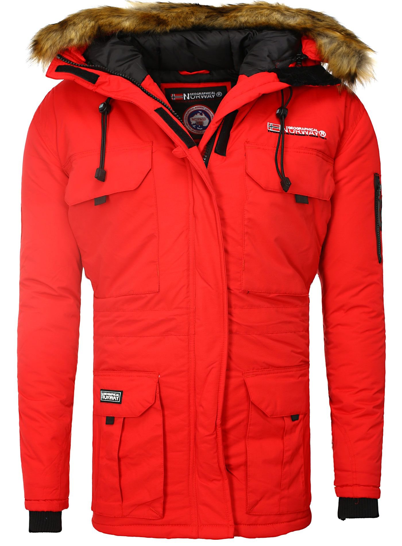 Jacket Men Jacket Geographical Norway red  96310e737a