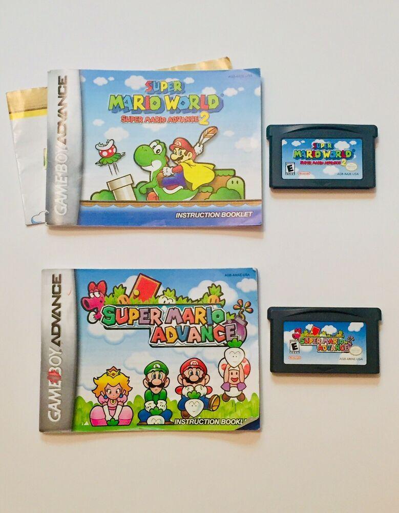 Gameboy Advance Gba Super Mario World 2 Super Mario Advance Games
