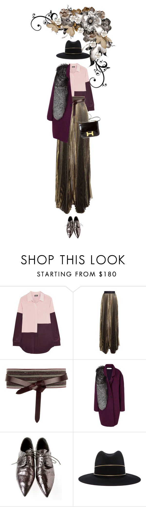 """""""Annabel Blake #4763"""" by canlui ❤ liked on Polyvore featuring DKNY, Faith Connexion, Isabel Marant, Kaelen, Miu Miu, Janessa Leone and Hermès"""