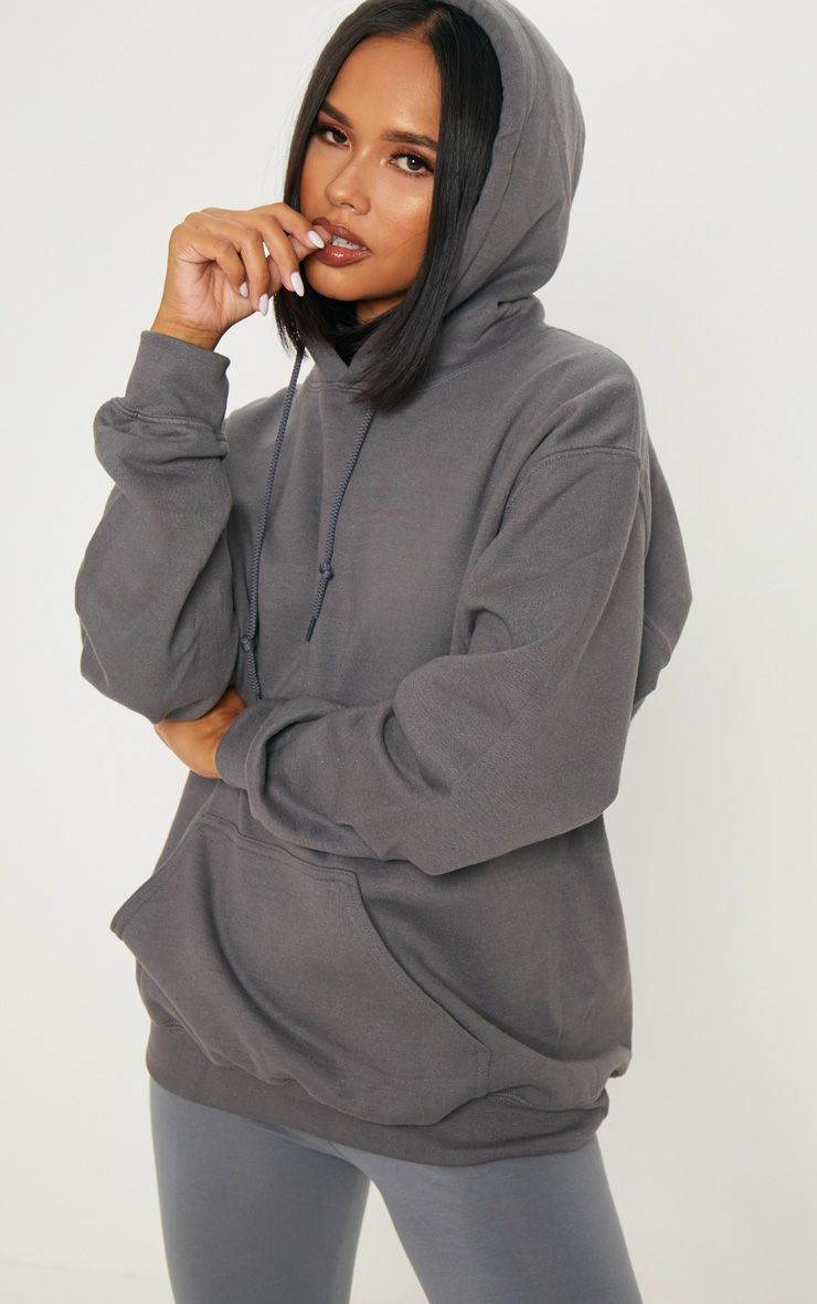 Charcoal Oversized Ultimate Hoodie Hoodies Shirt Outfit Women Hoody Outfits [ 1180 x 740 Pixel ]