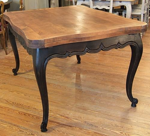 Table Louis XV patinée noir bois naturel  Idee creation  Pinterest  Bois n