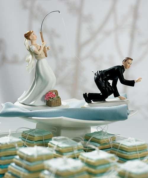 Geektastic Nuptial Desserts Fishing Wedding Cake Toppers Fishing Wedding Funny Wedding Cake Toppers