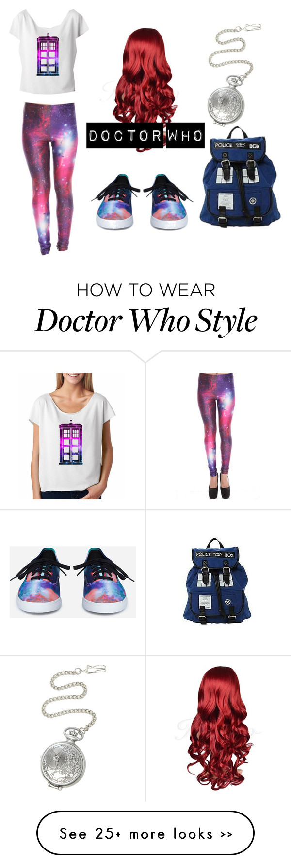 """""""Doctor Who"""" by chuckymoomoo on Polyvore featuring Vans"""