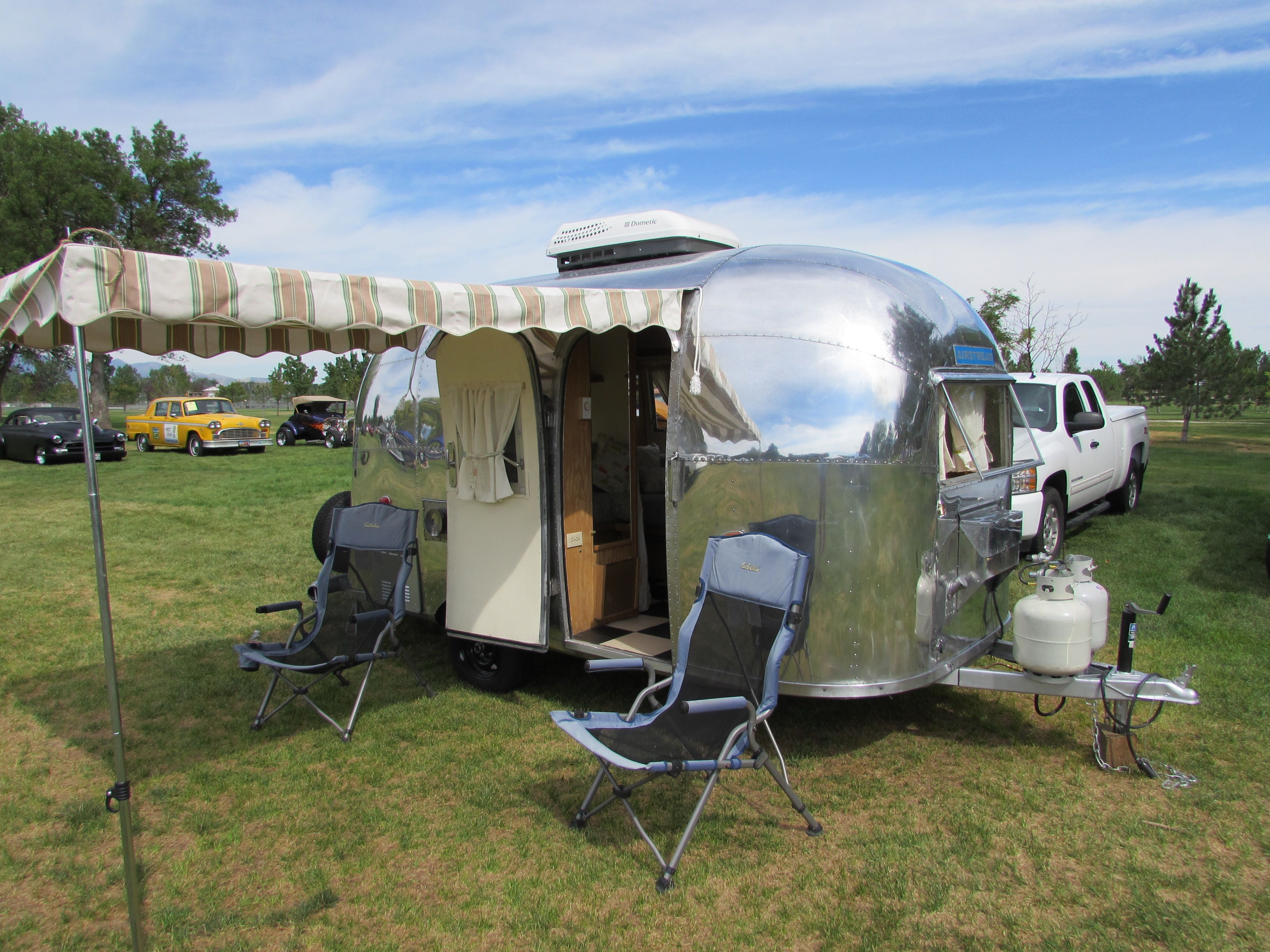 the awning provided some much needed shade glamping pinterest airstream bambi and airstream. Black Bedroom Furniture Sets. Home Design Ideas