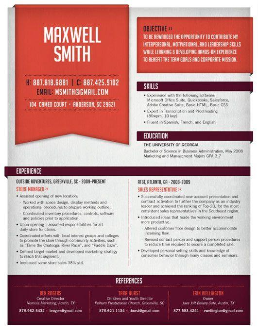Manifold Pinterest Resume layout, Resume styles and Design resume