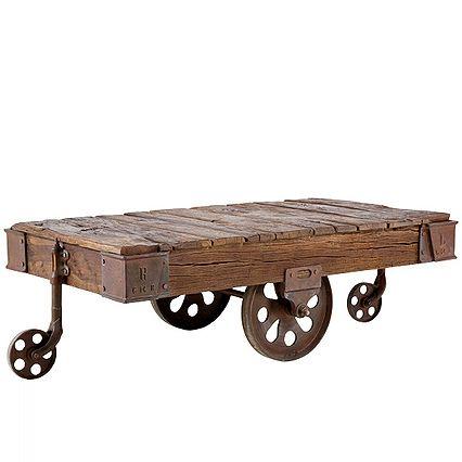 Coffee Table Railway 135x80 - Wohnzimmerse Bo - vardagsrum - industrial chic wohnzimmer