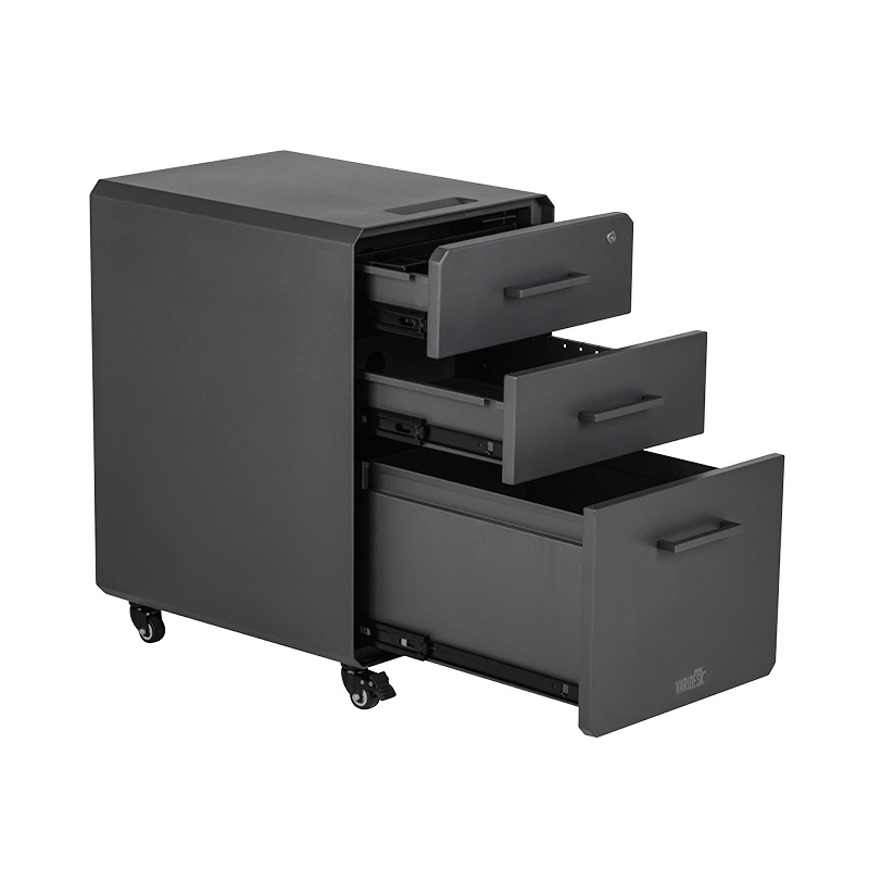 Varidesk File Cabinet Iso With Open Drawers Filing Cabinet Lateral File Cabinet Mobile File Cabinet