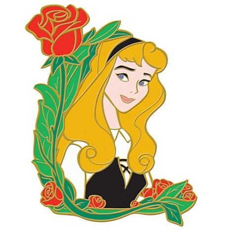 View Pin: DisneyShopping.com - Flower Portrait Series - Aurora