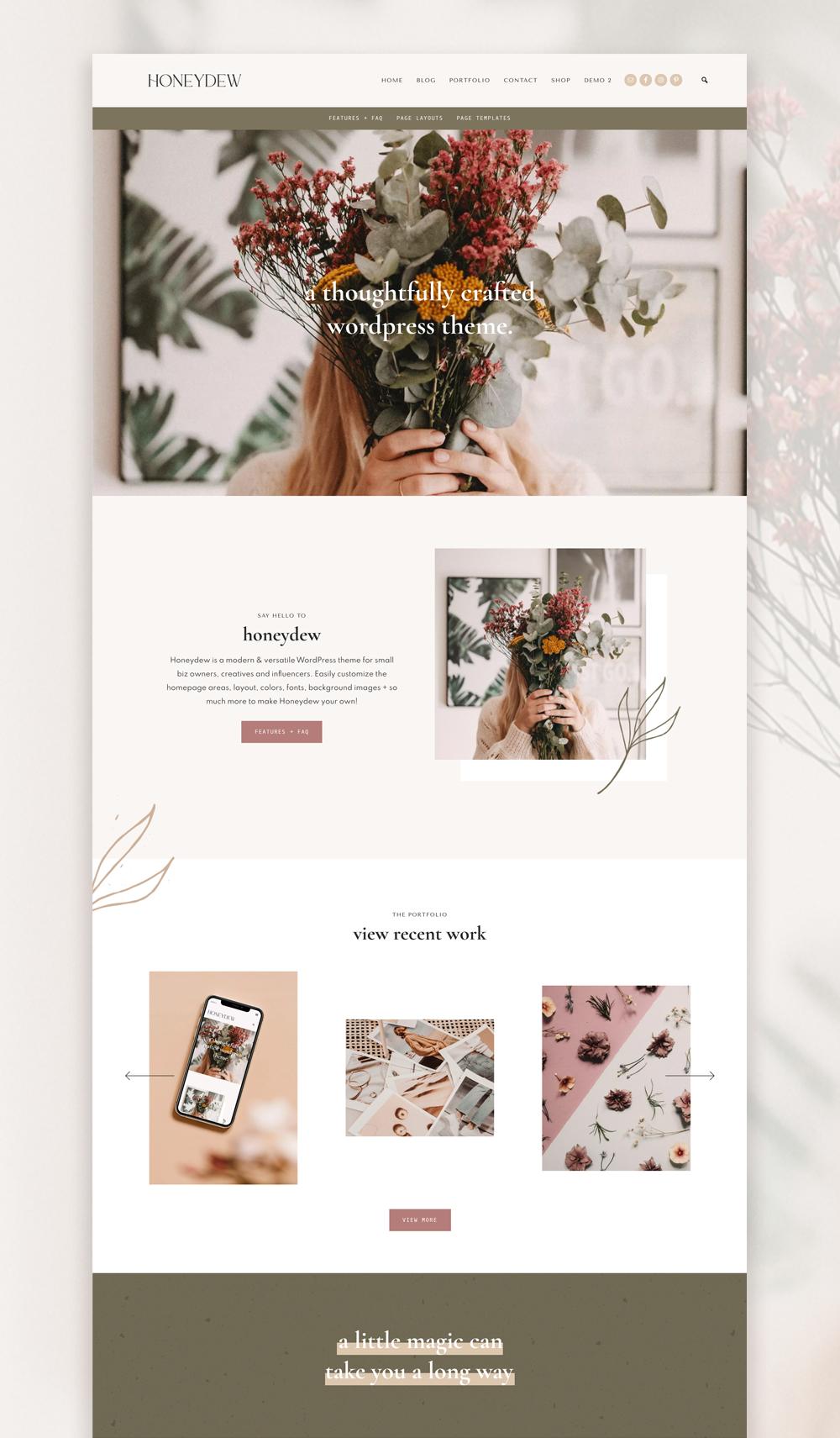 Feminine WordPress Themes for Creatives