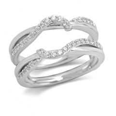 1/3 CT. T.W. Diamond Ribbon-Style Guard in 14K White Gold - View All Jewelry - Gordon's Jewelers