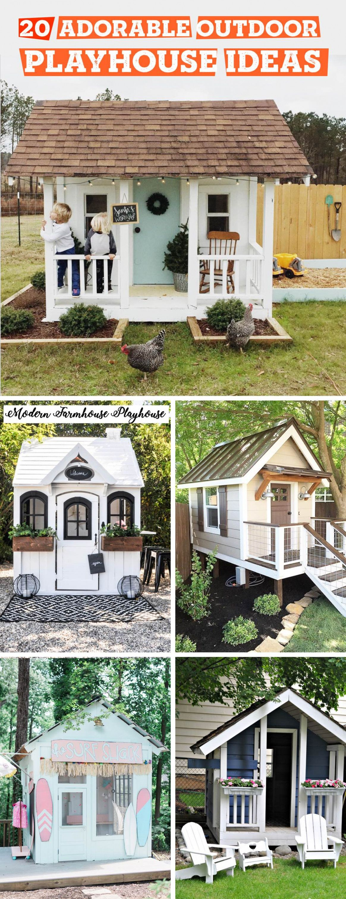 Best How To Build Backyard in 2020   Playhouse outdoor ...
