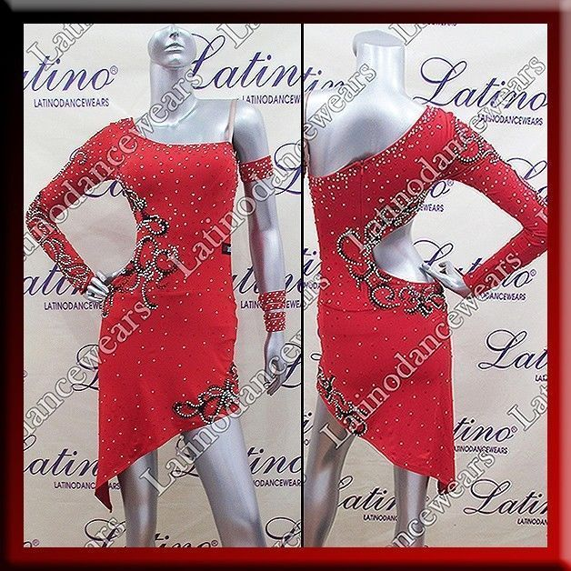 LATIN RHYTHM SALSA BALLROOM COMPETITION DANCE DRESS - SIZE S, M, L (LT733A) #LatinoDancewears