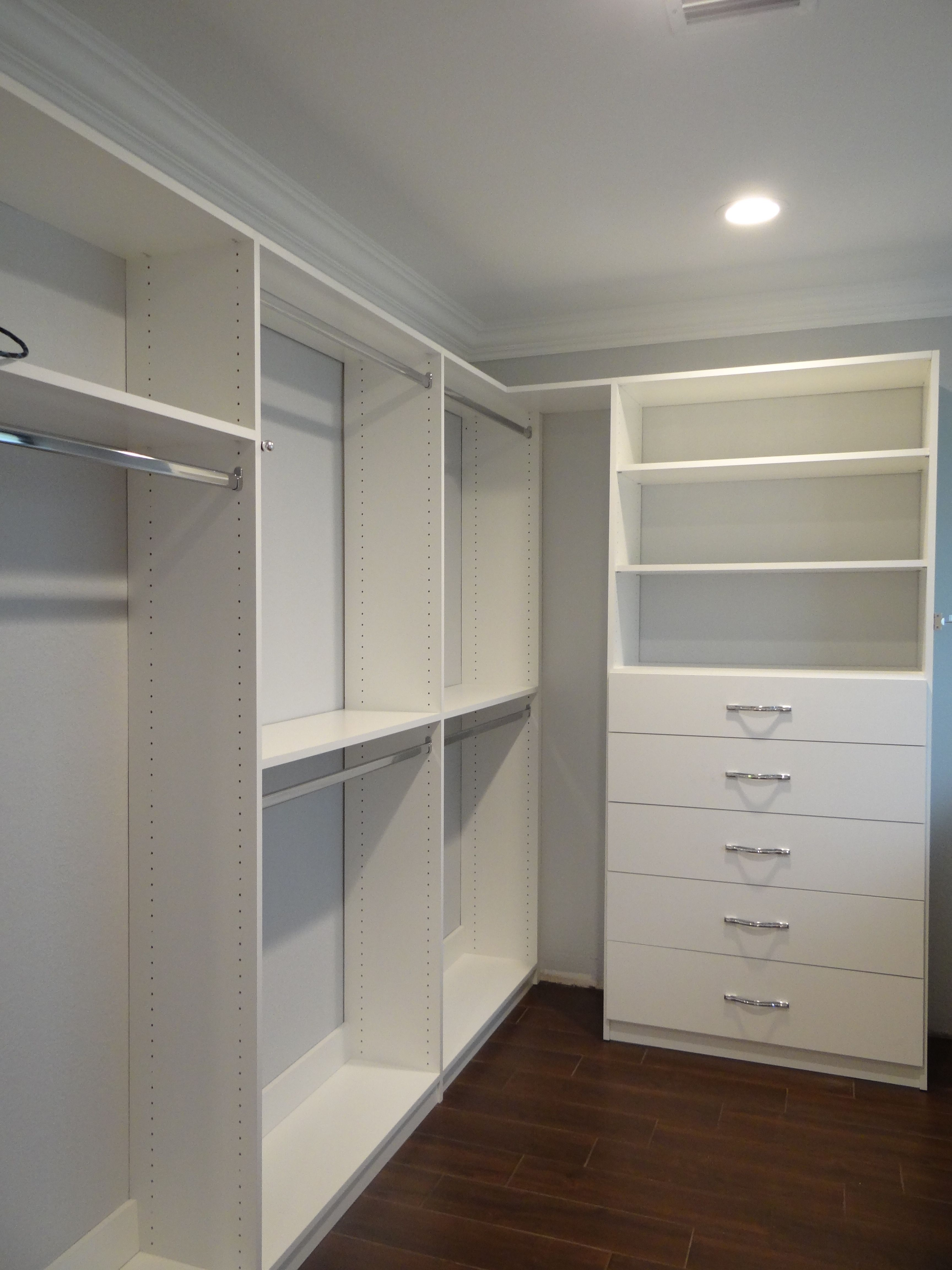 Master bedroom suite with walkin closet. Sherwin Williams