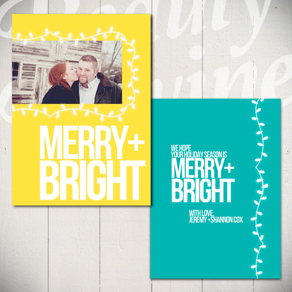 5x7 Modern Holiday Card Template