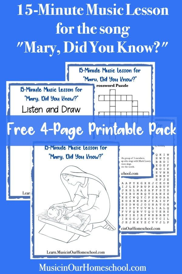 """Free 15-Minute Music Lesson on """"Mary, Did You Know?""""   Music lessons, Music lessons for kids ..."""