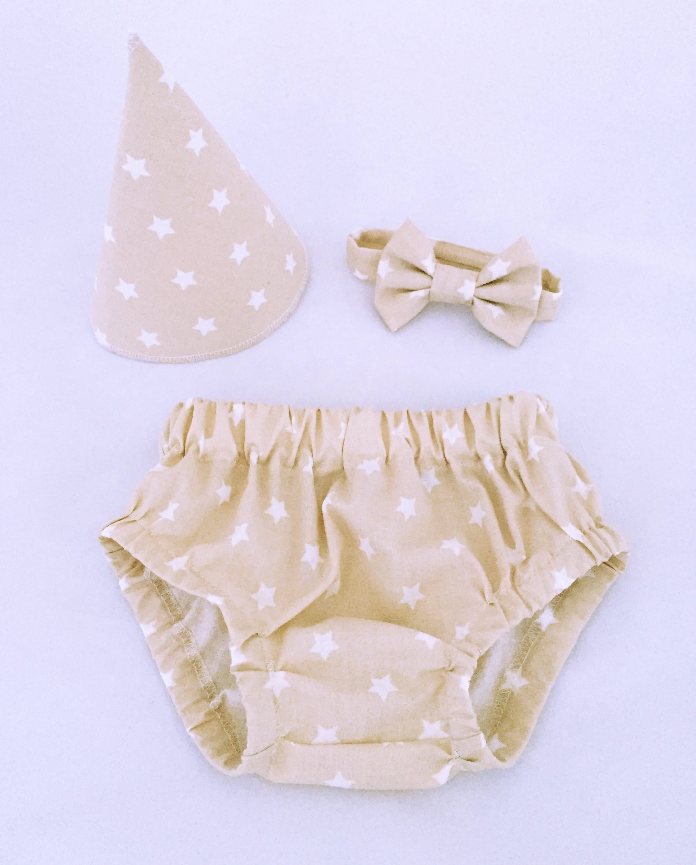 Baby Boy Girl Bloomers Nappy Cover 1st Birthday Cake Smash Rose Linen Diaper Cover