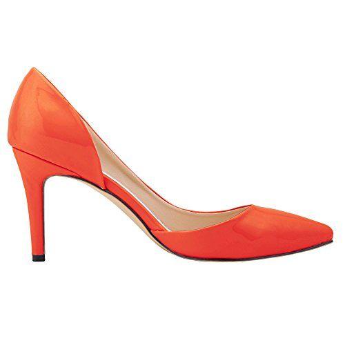 Zbeibei Women's High Heels Pointed Toe Summer Sandals Dress Pumps(9525PA38orange) - http://all-shoes-online.com/zbeibei/7-5-b-m-us-zbeibei-womens-high-heels-pointed-toe-11