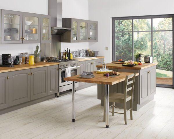 Îlot de cuisine Bruges de Conforama Déco  choisir sa cuisine - Conforama Tables De Cuisine