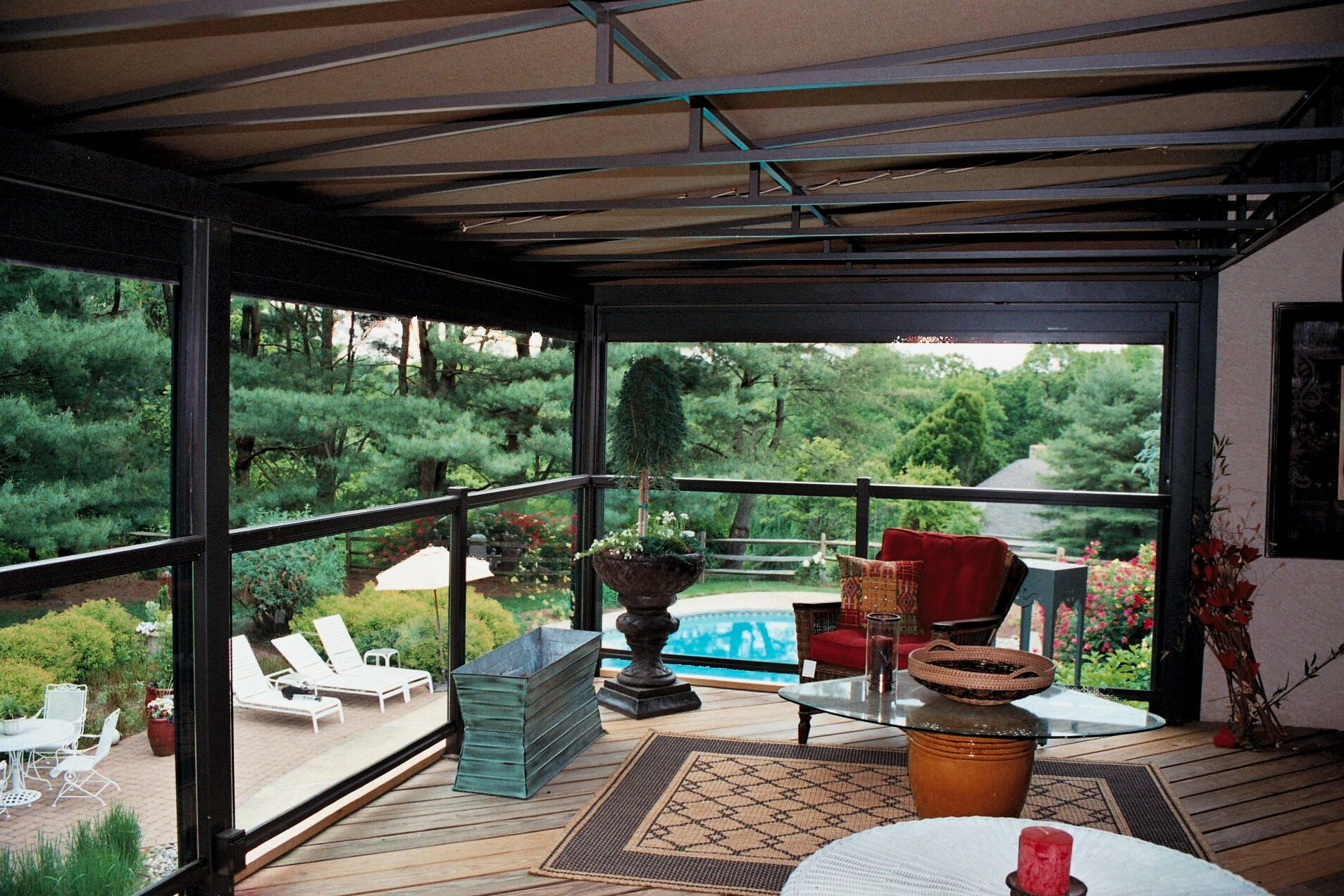 all awnings custom items interlaced patio stationary above fabric with cover awning for covers decks portfolio