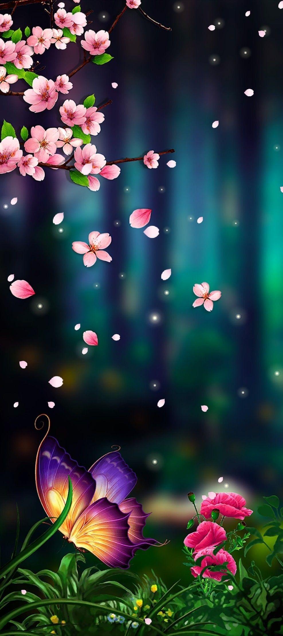 Telefon Duvar Kagitlari Galaxy Wallpaper Kelebekler Fraktal Sanati
