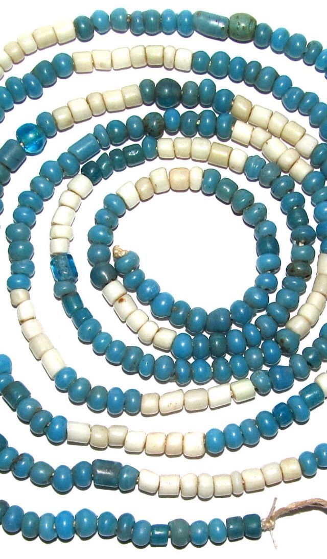 Antique Native American Trade Beads The Dalles Columbia River African Trade Beads Trade Beads Tribal Jewelry