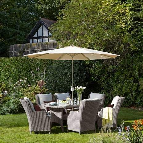 Syon 6 Seater Dining Garden Furniture Set Wyevale Garden 400 x 300