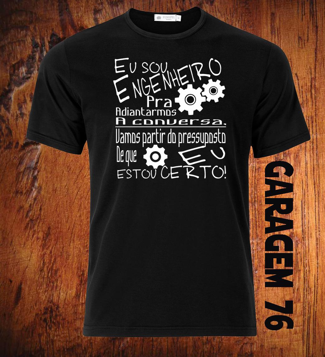Tshirt Engenharia Camiseta Camiseta Eu Sou Engenheiro Formatura