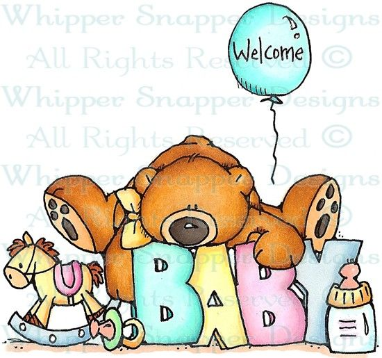 A Blessing from Heaven - Bears - Animals - Rubber Stamps - Shop