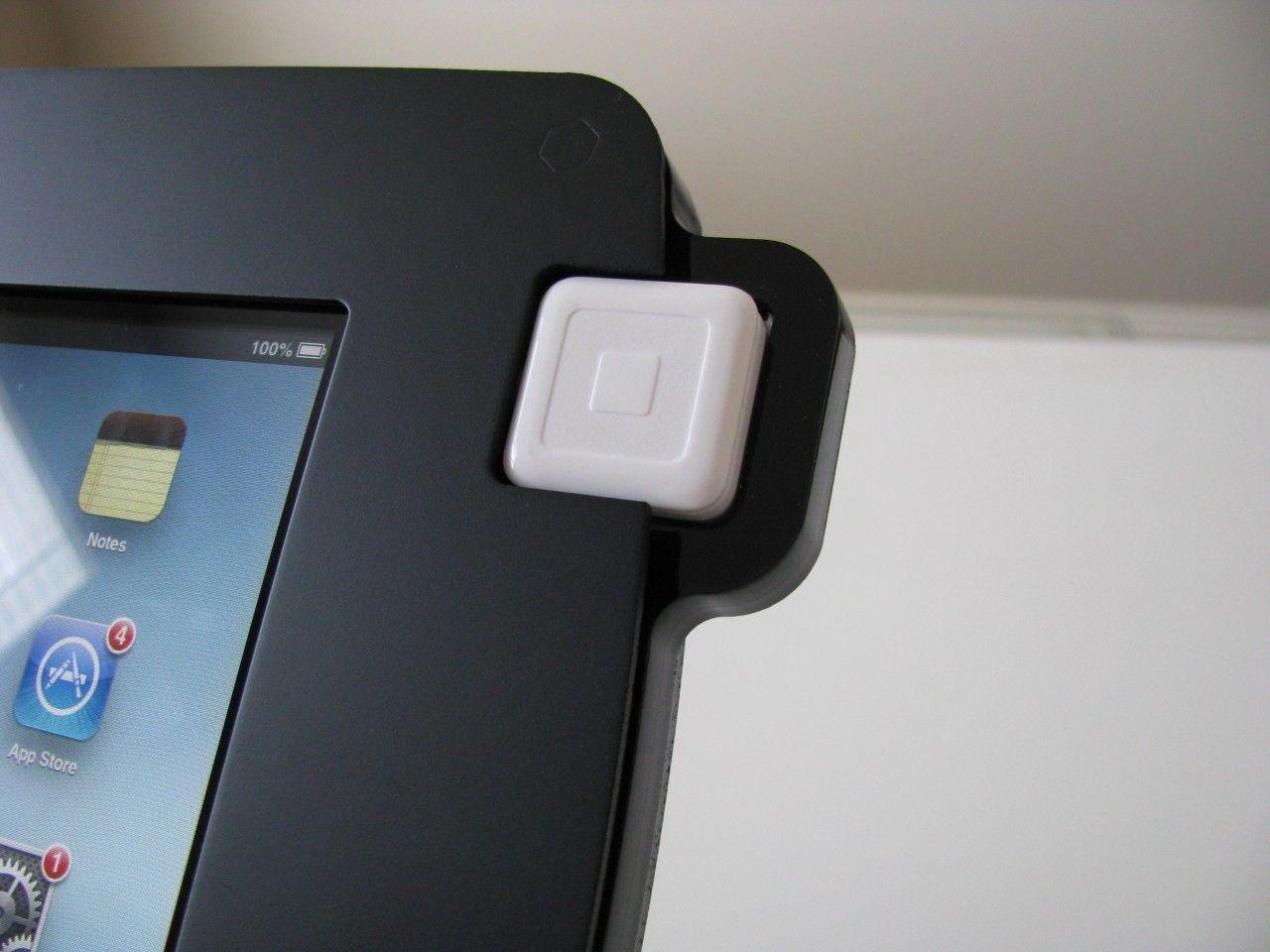 Revo swipe ipad enclosure black square card revo
