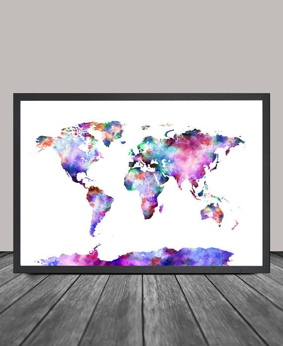 World map art print world map poster large watercolor world map world map art print world map poster large watercolor world map art artwork world map wall art painting 07 gumiabroncs Images