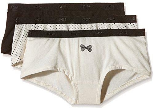 1b05ed677be7 Dim - Pockets Coton - Boxer - Quotidien - Uni - Lot de 3 - Femme ...