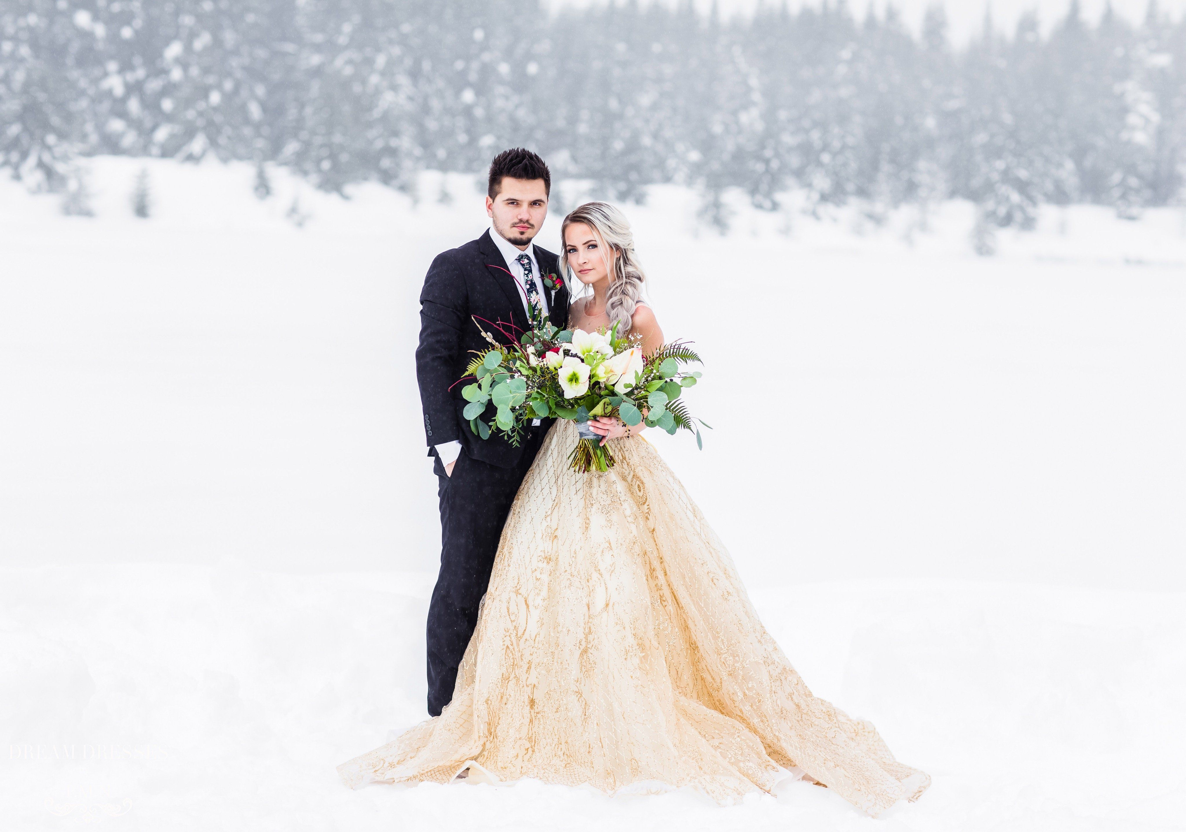 Gold Ball Gown Theia  Gold wedding gowns Ball gowns and Dream dress