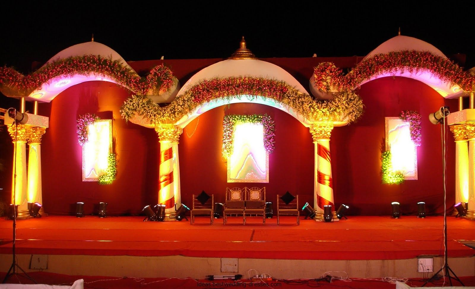 Outdoor Indian Wedding Stage Decorations Indian Wedding