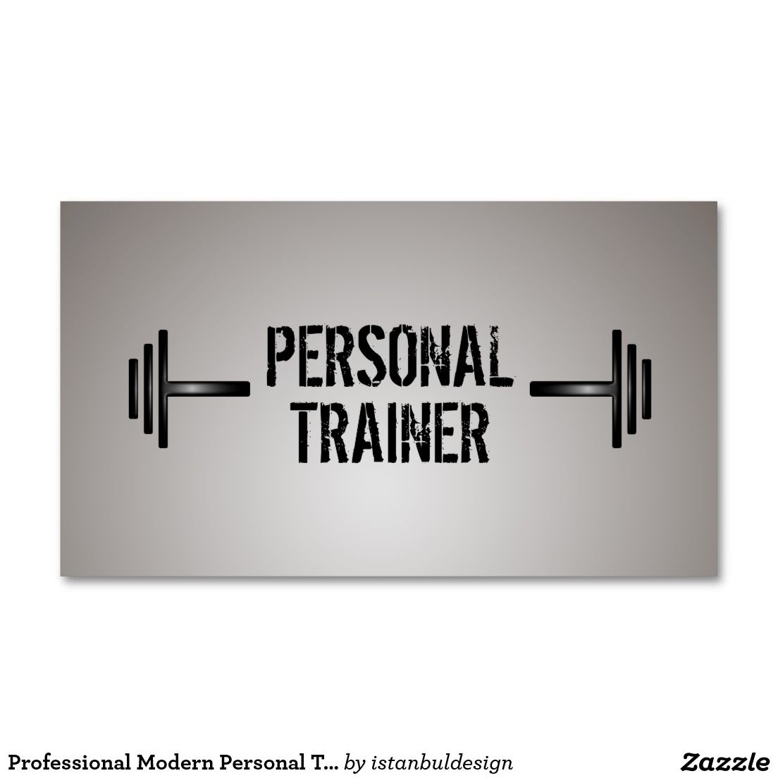 Professional Modern Personal Trainer Business Card | Fitness ...