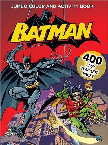 Batman Jumbo Color Activity Book Niftywarehouse NiftyWarehouse DC