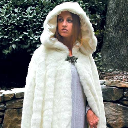 medieval hunter New Zealand made cape winter wedding fur collar in the style of Daenerys fur coat Fur capelet